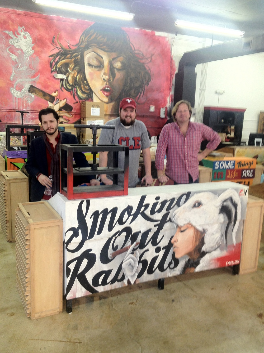 Tony, Craig, and Hunter at the Wynwood Factory in Miami FLA