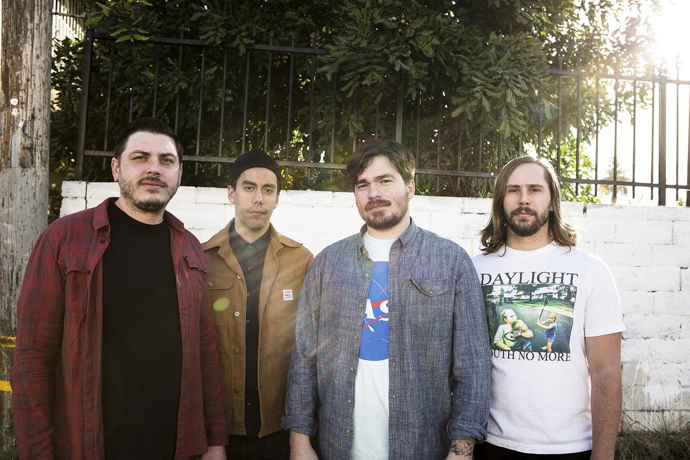 From left to right: Matthew Davis (guitar), Kevin Lessley (bass), Gabriel VanBenschoten (vocals, lead guitar) and Jarred Tibbetts (drums, vocals)