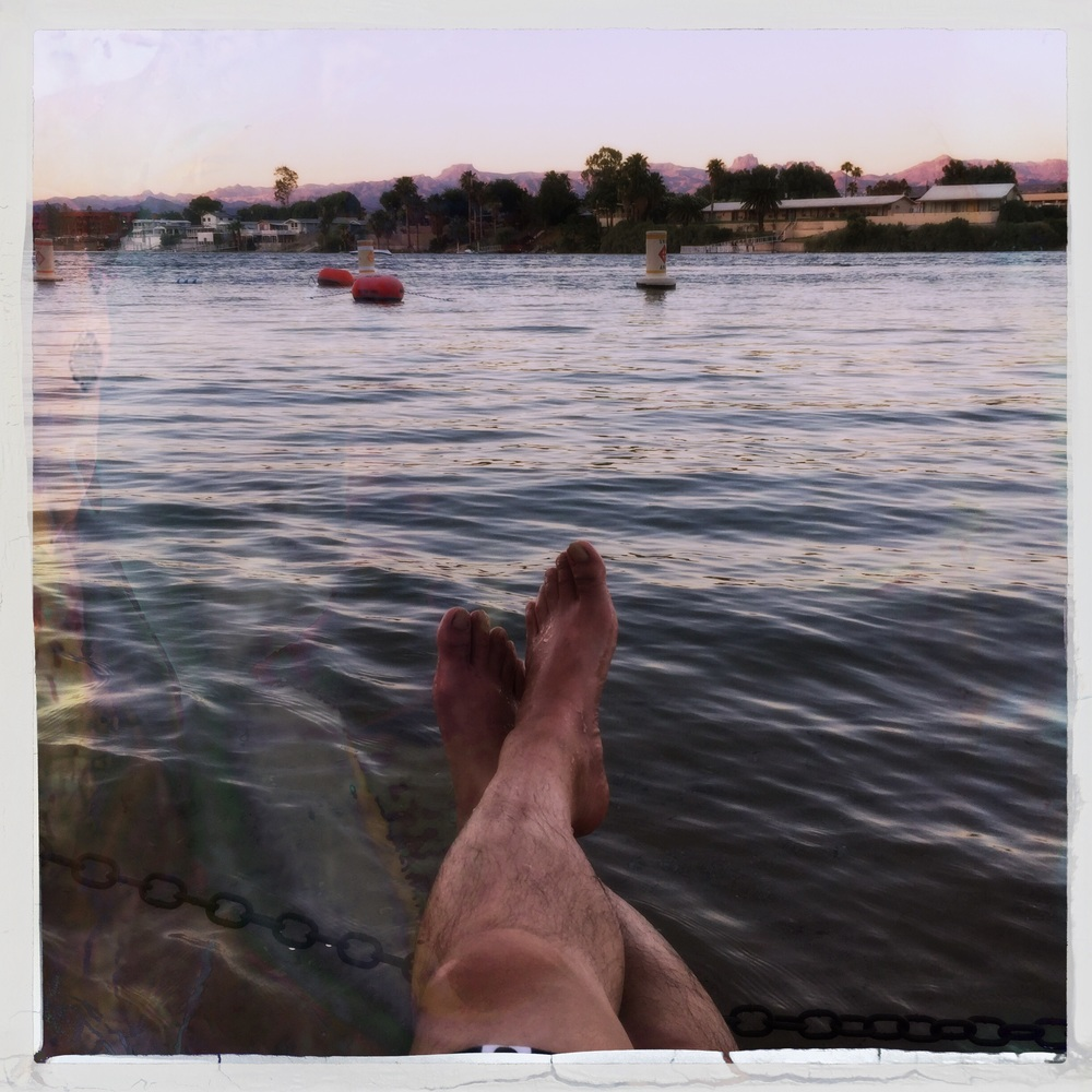 Ending the day on the river's edge in Laughlin