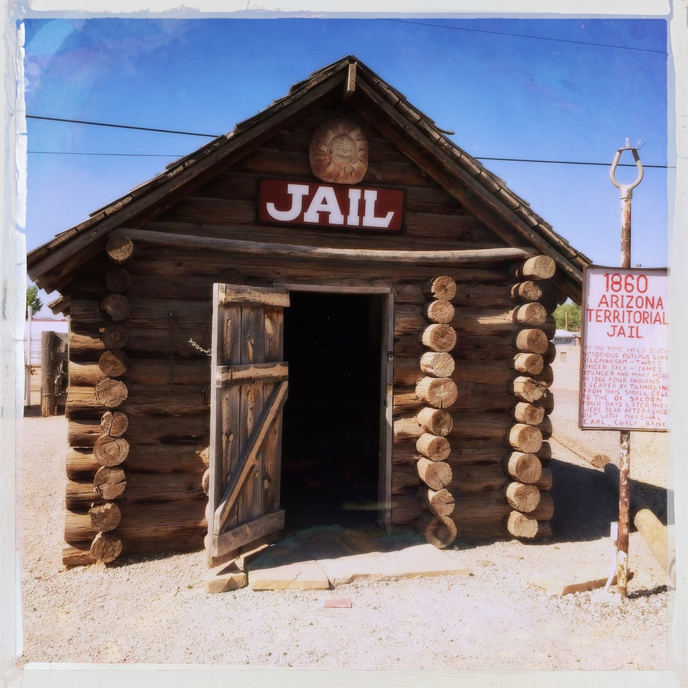 The old jail at Seligman