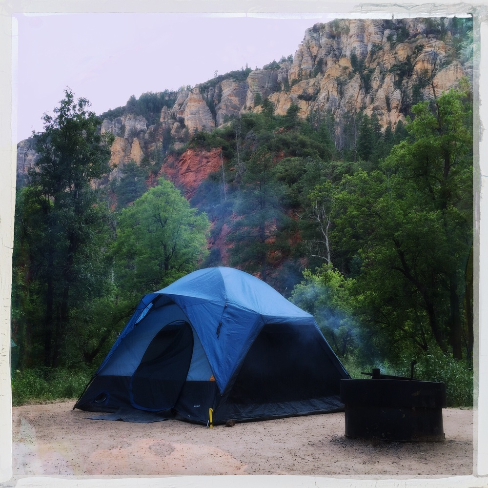 Our humble abode at Pine Flats in Oak Creek Canyon.