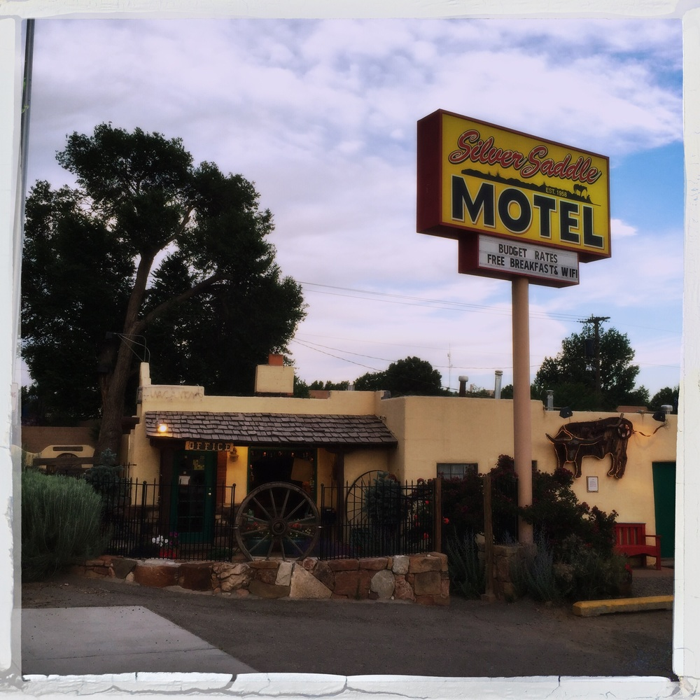 The Silver Saddle Motel in Santa Fe, NM is middle classy approved.