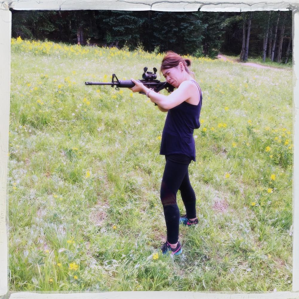 2) Shoot an AR-15