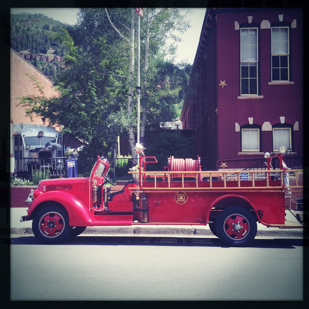 An old timey Fire Truck for an old timey town.