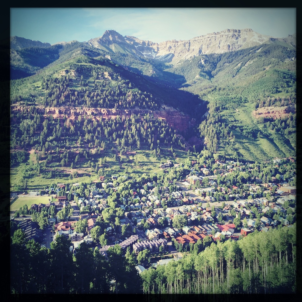 The cliche Telluride photo from the free gondola screams: Wish you were here!
