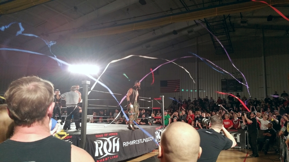 ROH Champ Jay Brisco enters the ring