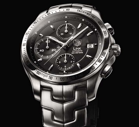 Tag Heuer Gents black Link chronograph