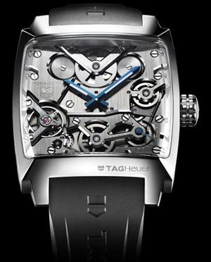 Tag Heuer Monaco V4 belt driven watch