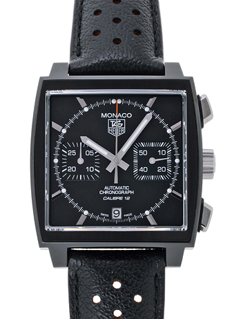 Tag Heuer monaco black on black watch