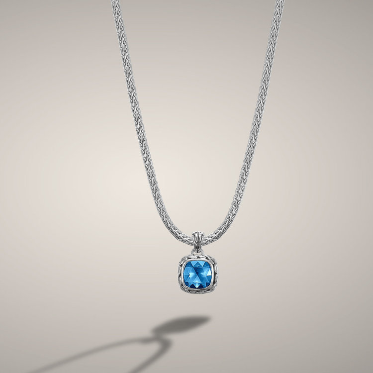 John hardy blue topaz pendant necklace engagement rings jeweler blue topaz classic chain pendant by world renown designer john hardy available in many colors aloadofball Images
