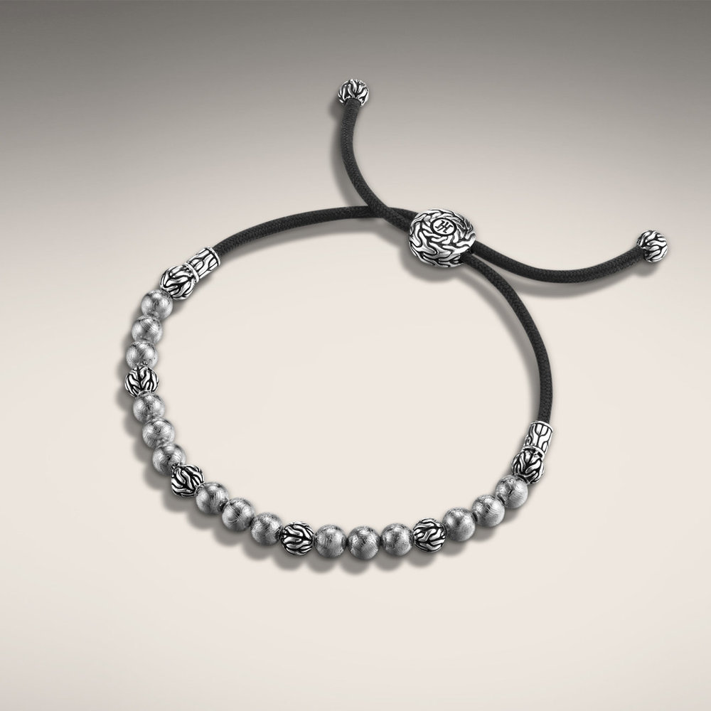 John Hardy cord with silver balls for men. Handcrafted in Bali.  $595