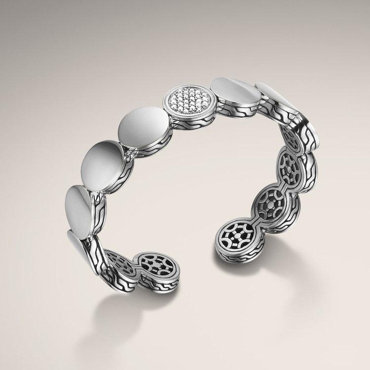 John Hardy Diamond Pave Dot Flexible Cut Bracelet — Engagement