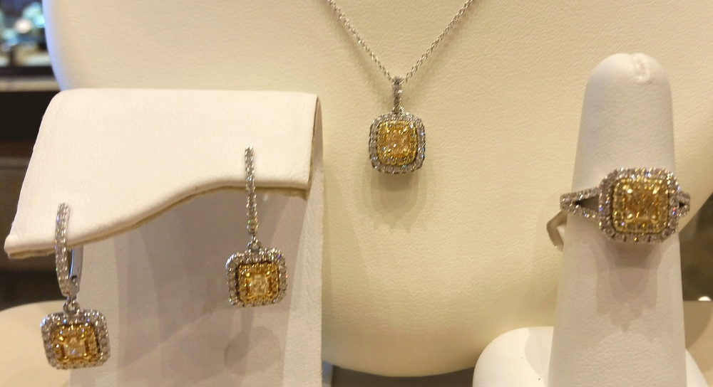 Yellow Diamond Set in 18 Karat Gold