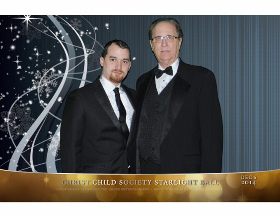 Andrew and Frank Eilberg at the 2014 Christ Child Society Starlight Ball