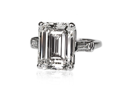 Harry Winston Emerald Cut Diamond Ring