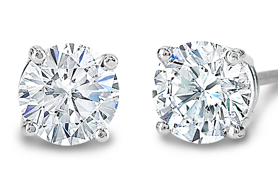 2 carat total weight diamond stud earrings starting at $5,000 perfect everyday earrings with a great look.