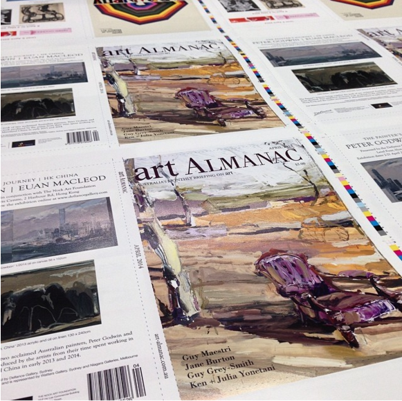 Art Almanac cover, 2014