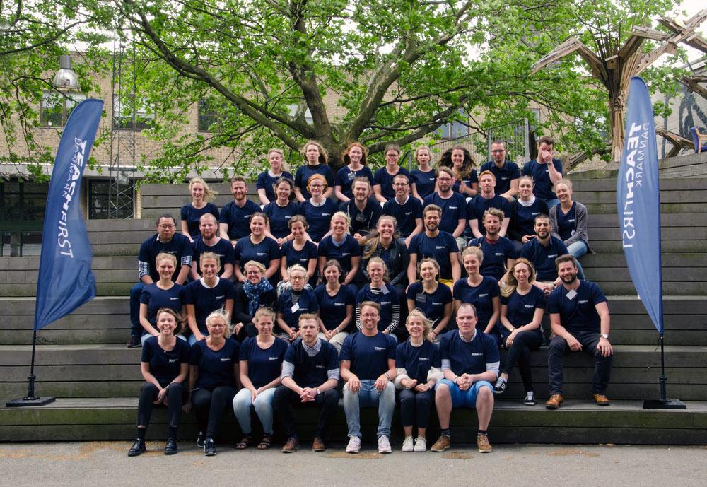 3. årgang Teach First Danmarks graduates ved starten af sommerakademiet (der mangler lige et par stykker)