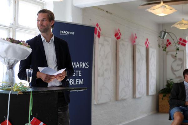En stolt CEO for Teach First Danmark, Jesper Bergmann