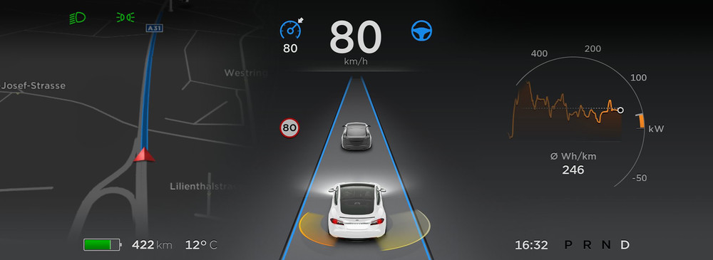 Virtual Cockpit © Tesla Motors
