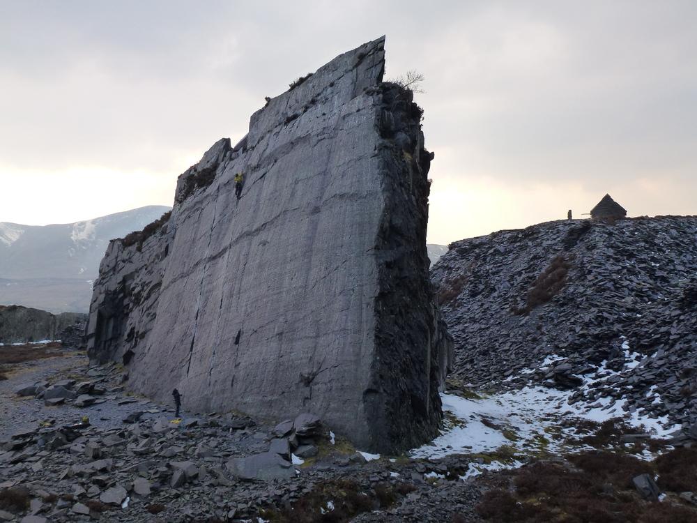 Seams the Same, the Llanberis slate quarries. (photo Nick Gellet)