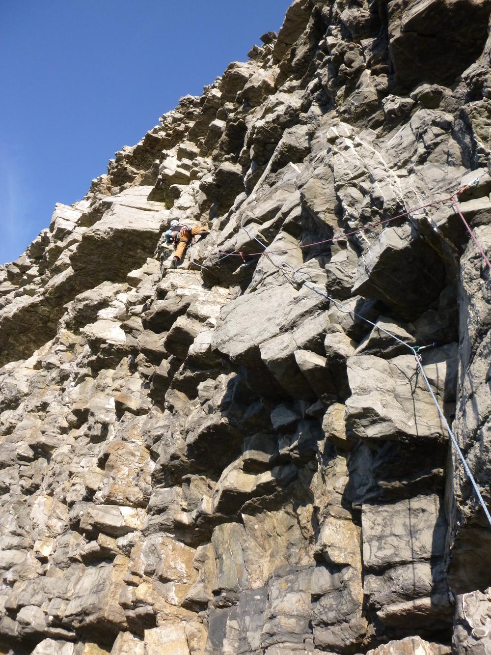 Guided rock climbing Pembroke