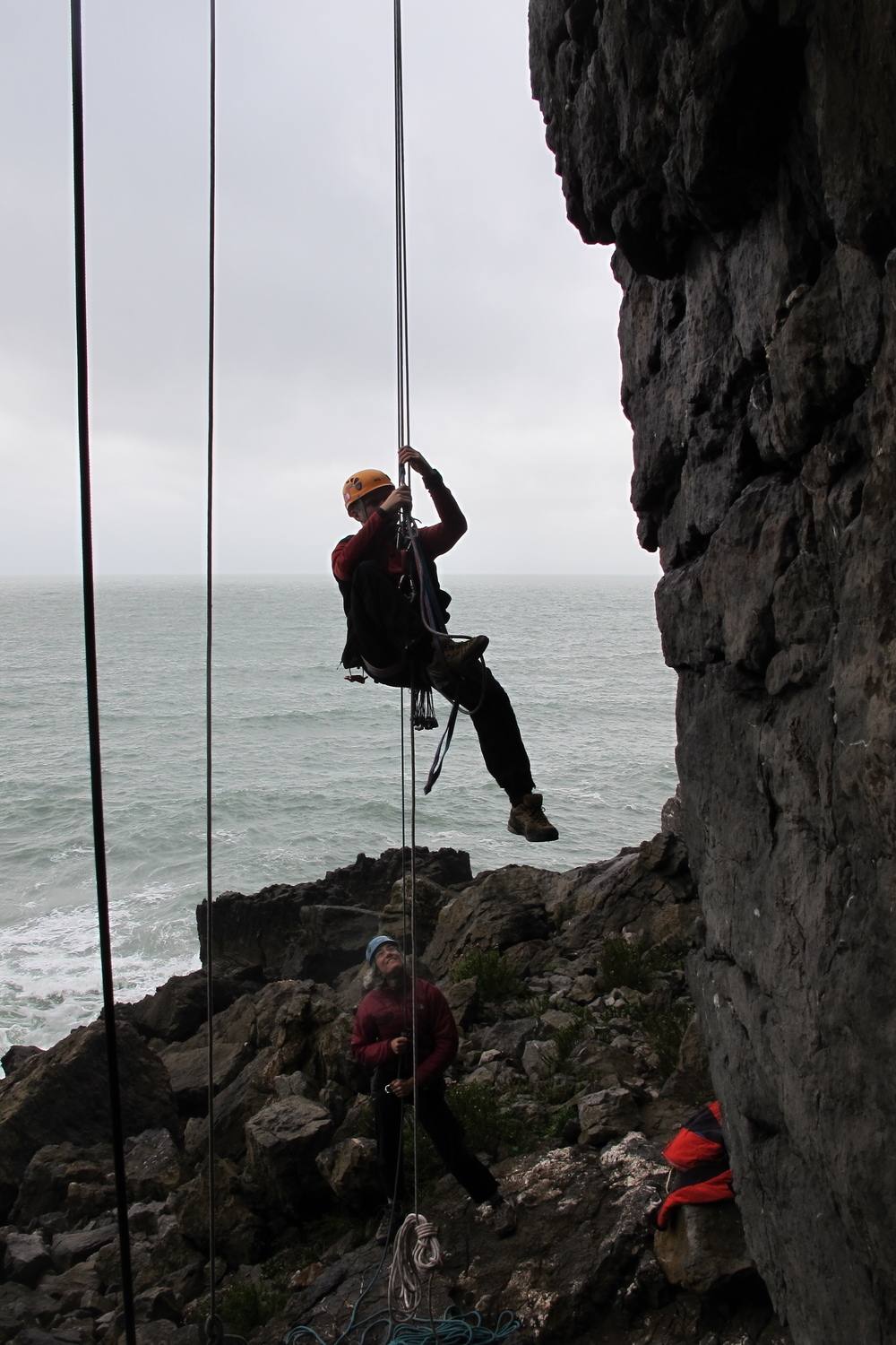 Ascending a fixed rope