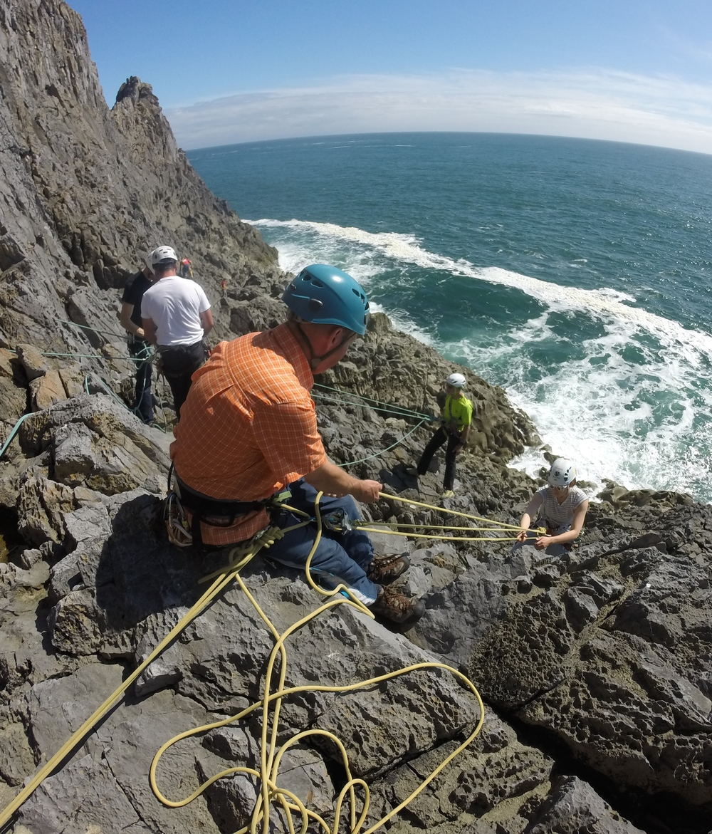 Sea Cliff Climbing Skills Courses