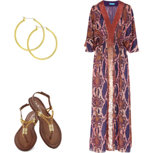 earrings  - $10,  sandals  $45,  dress  $715