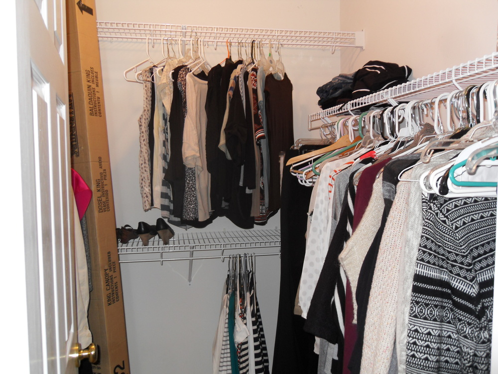 Laura's closet after
