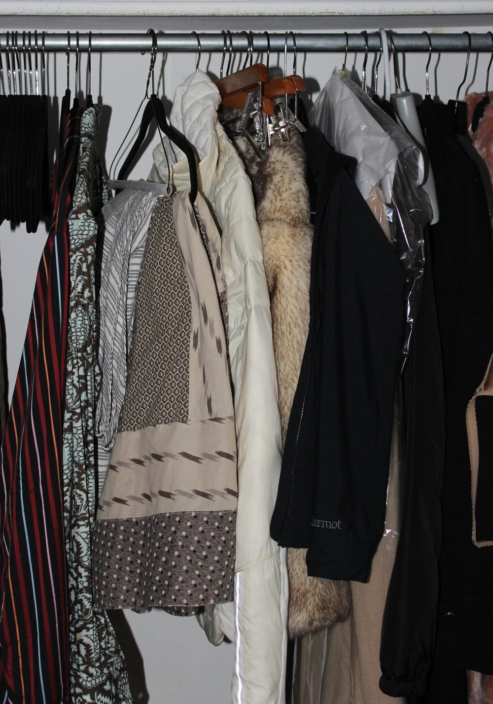 Heidi's closet before