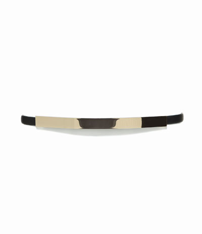 zara metallic plate belt