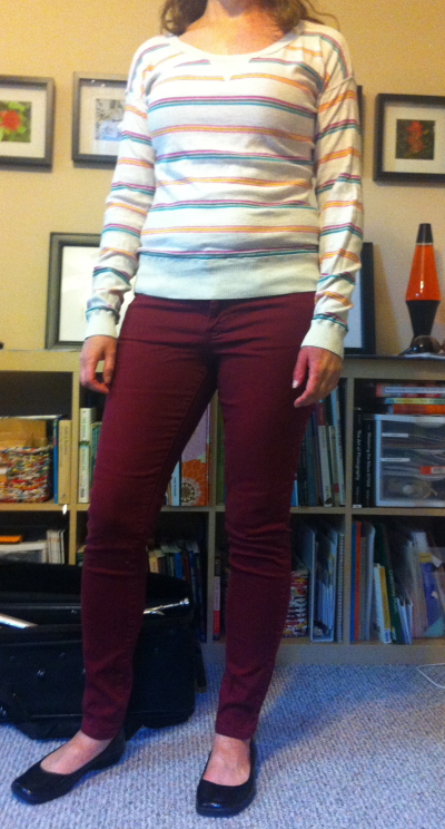This is an example of an outfit that is cute, but just isn't Julia's style - too preppy. The sweater went in the donate pile.