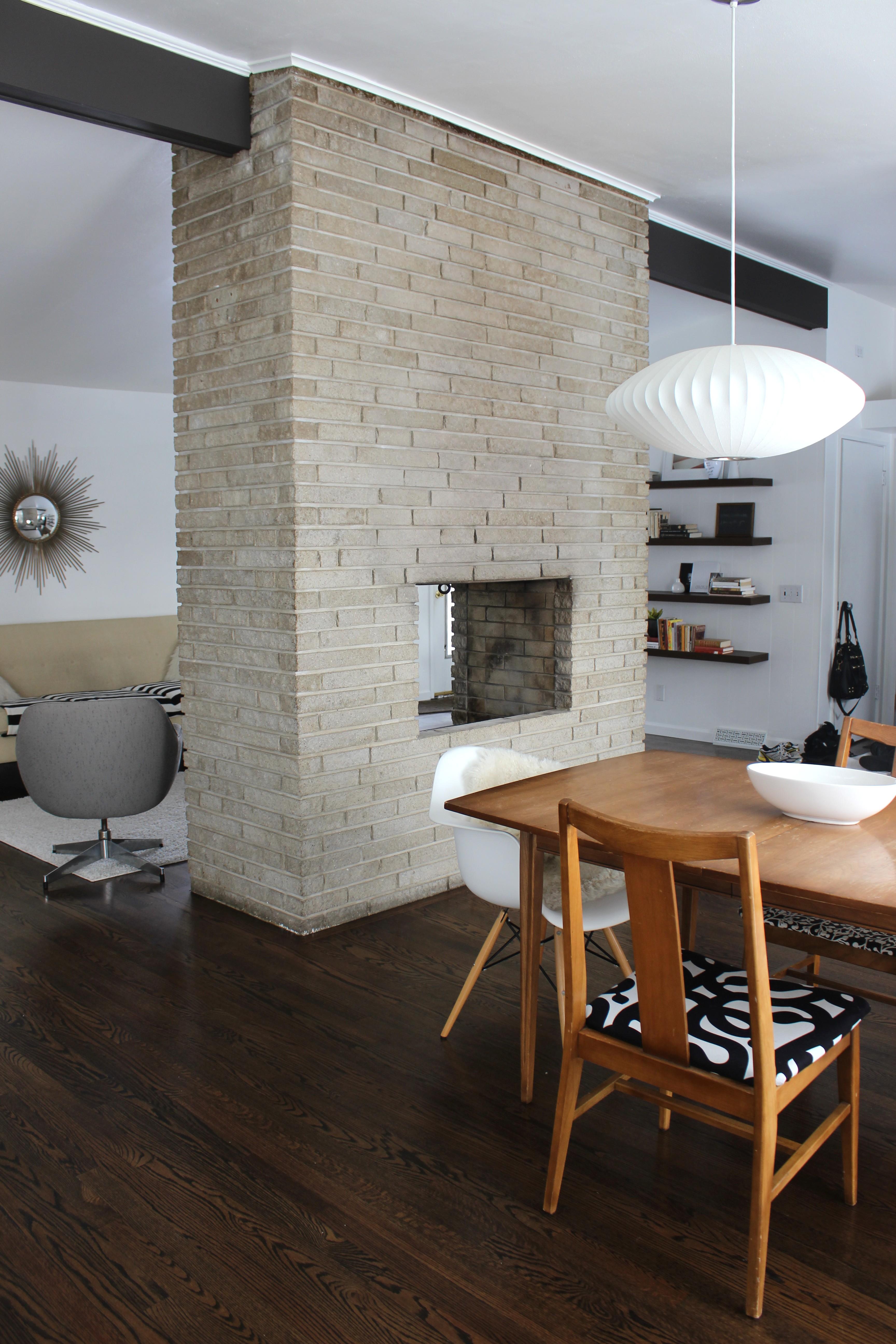 Mindful Closet Midcentury Modern Dining Room George Nelson Lamp