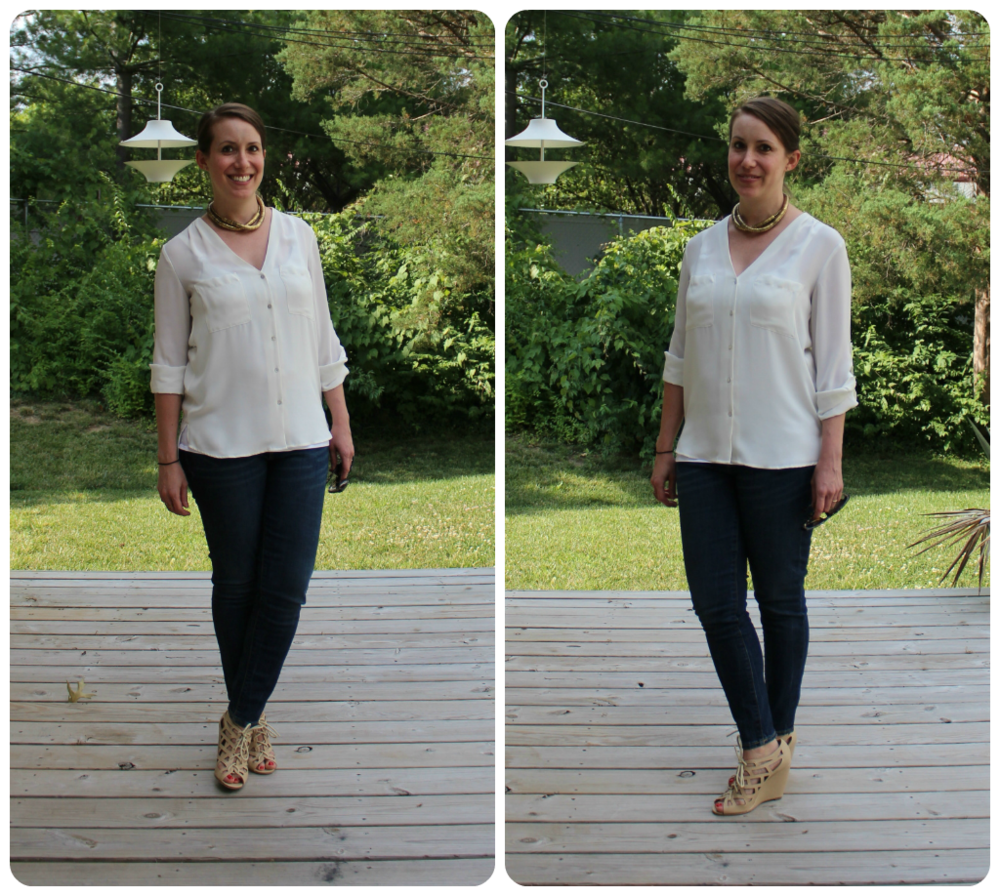 mindful closet st louis personal stylist - summer uniform white+denim