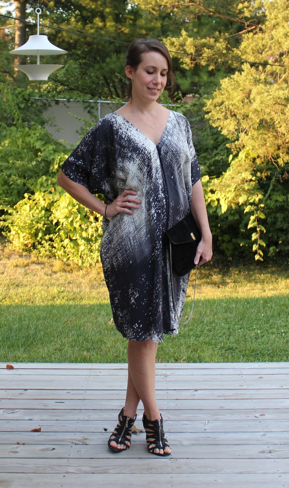 st. louis personal stylist - vince graffiti print dress