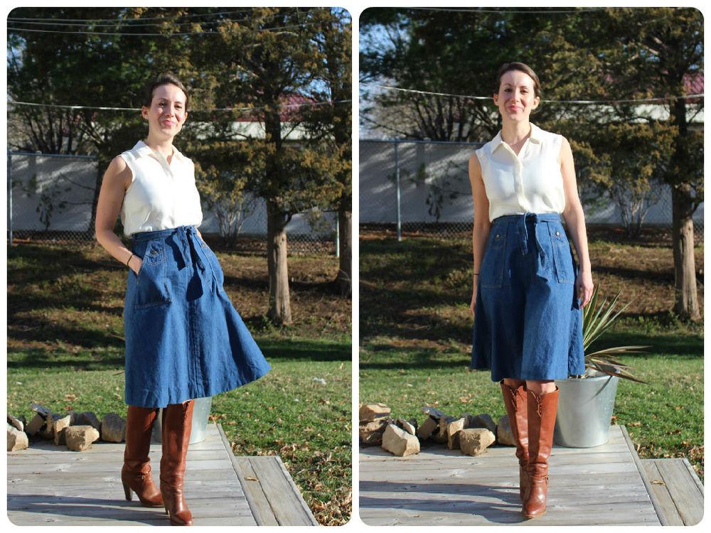 mindful closet saint louis personal stylist spring denim skirt