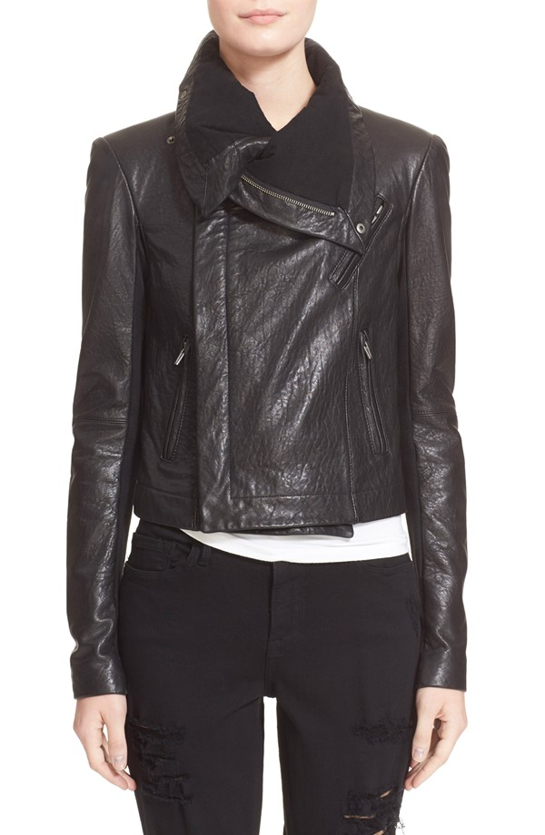 veda max leather jacket