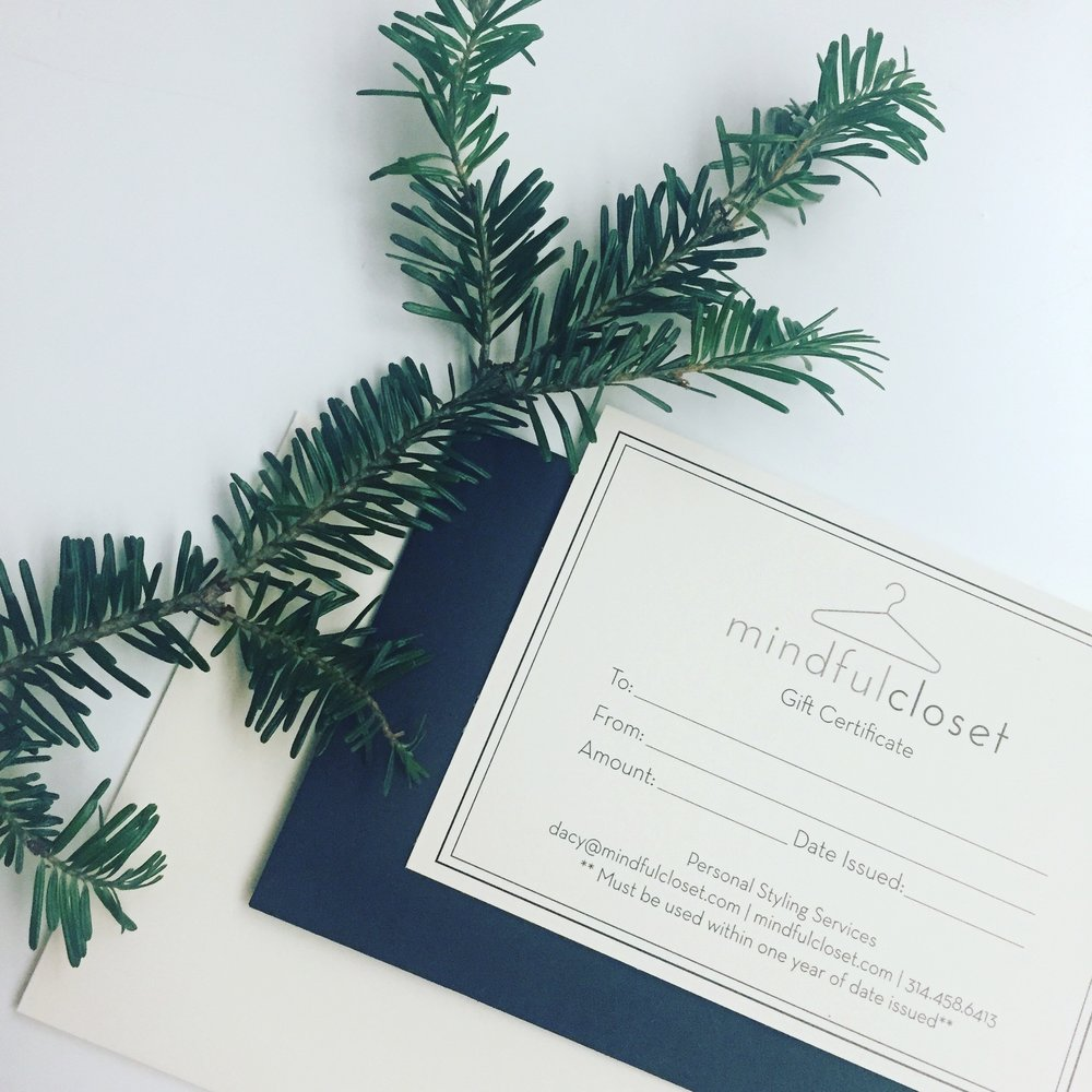 mindful closet personal styling gift certificate