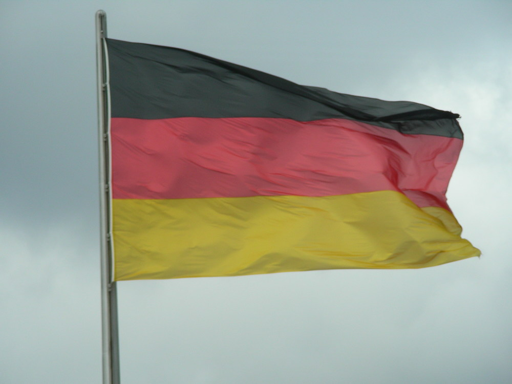The German Flag. This one flies above the Bundestag.