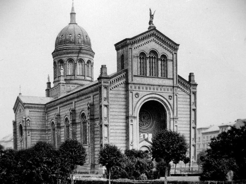 St. Michael's Church in 1880, not long after completion.