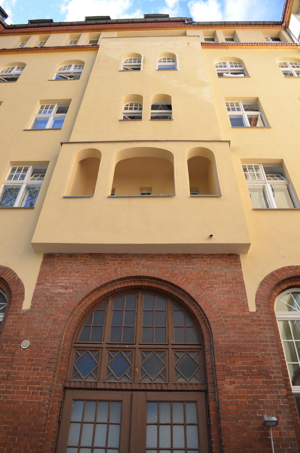 A back entrance.