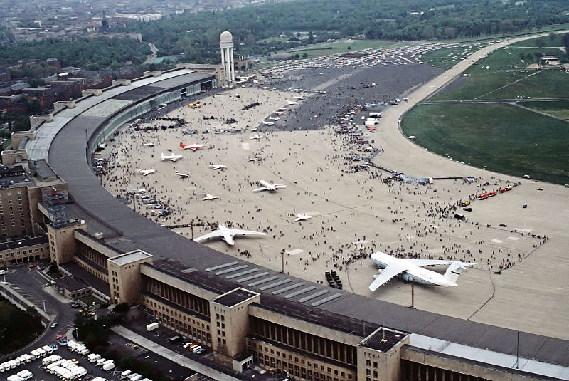 Tempelhof Airport in 1984. Source:  Wikipedia .
