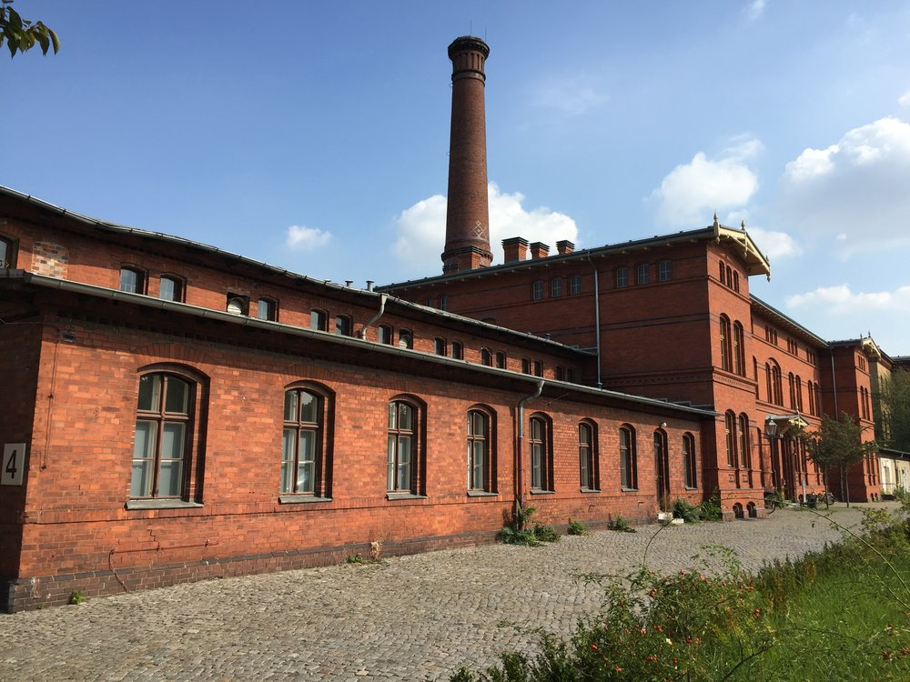 One of the buildings in the former hospital complex in Prenzlauer Berg, Berlin. Originally built at the end of the 19th century, the complex has had many different uses over the past 130 years.