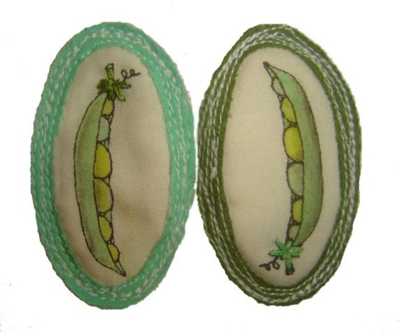 For 'Being Two Peas in a Pod'.   $40/pair