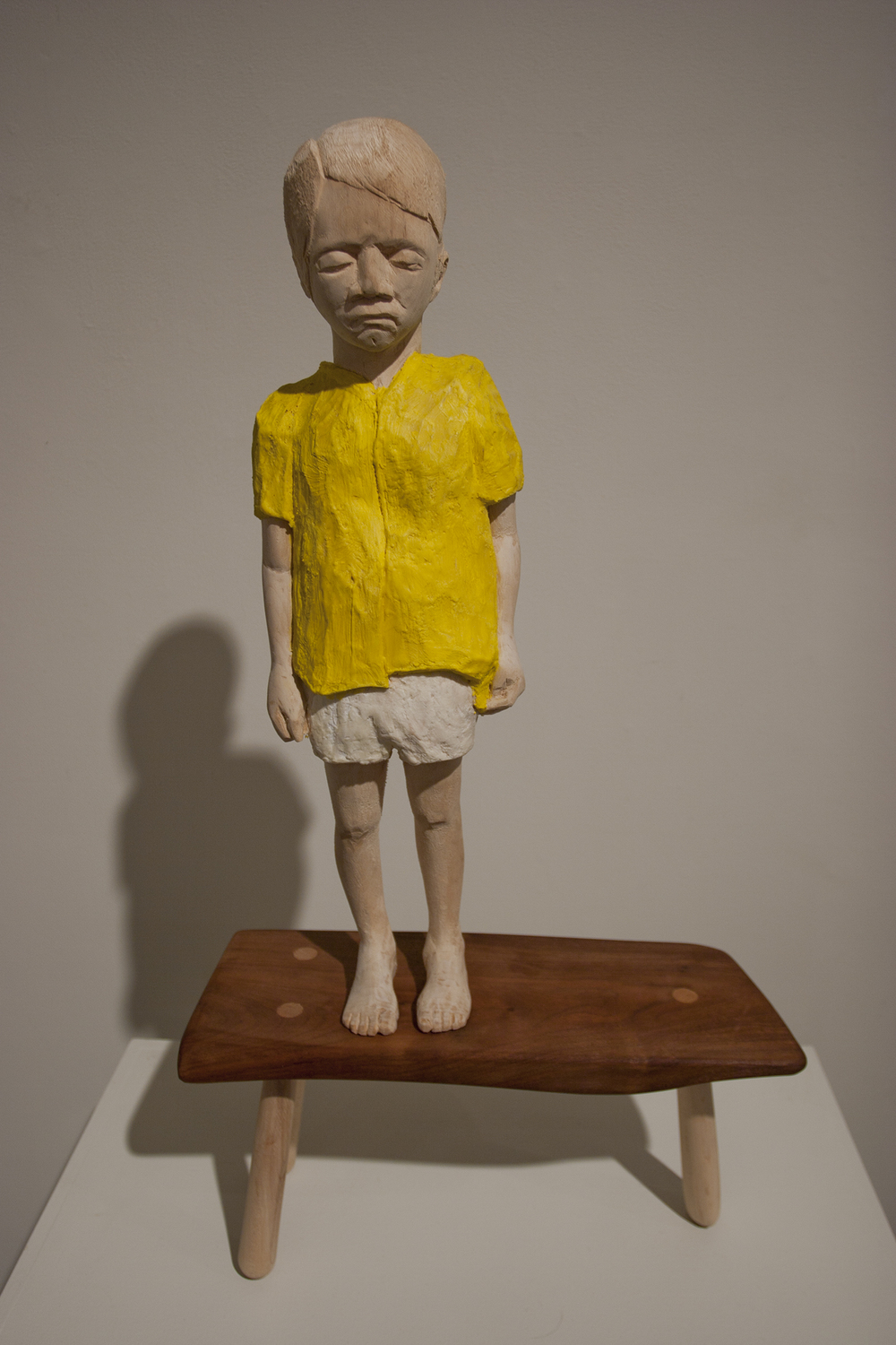 me as my father as a child. Wood and paint. 2012. Private collection Harrisburg, PA.
