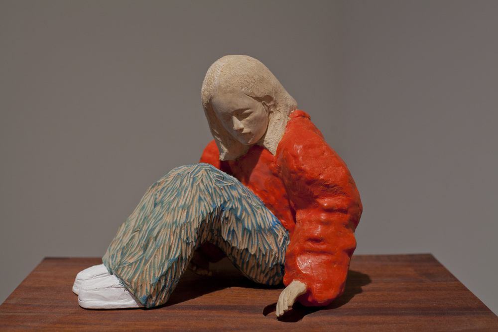 sarah 3. Wood, wax and paint. 2010. Private collection Lincoln, NE