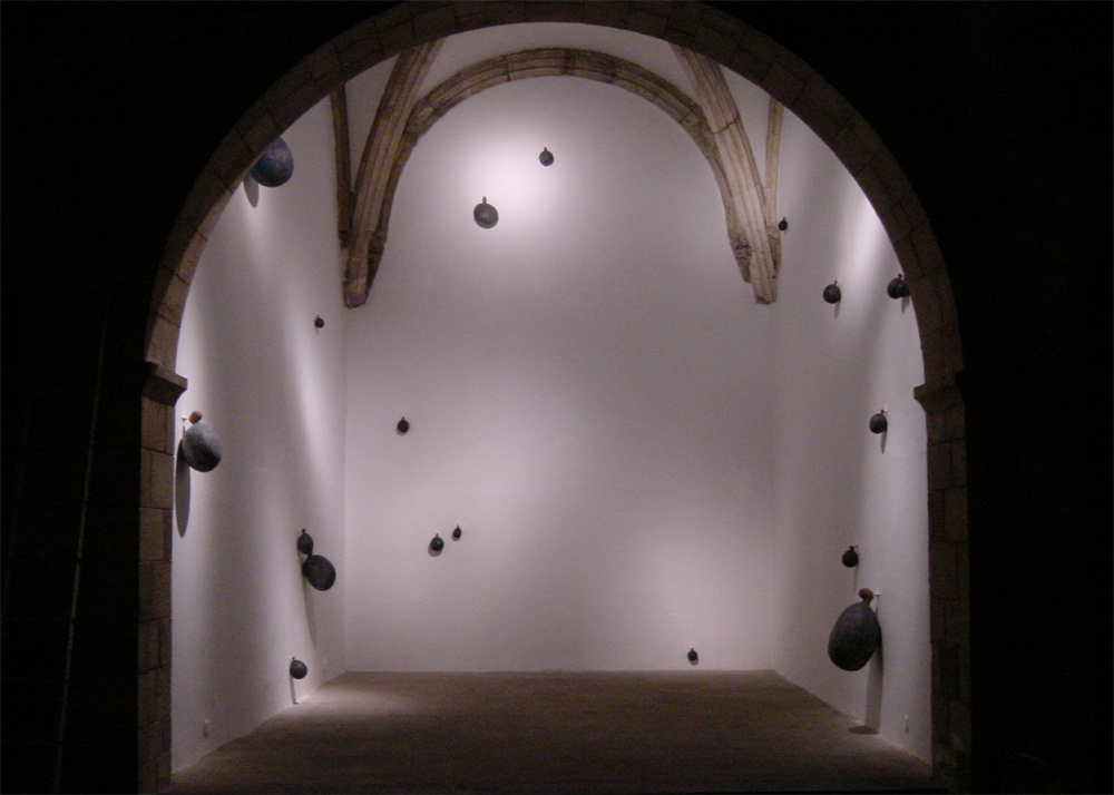 ticks. Wood, plaster and paint. 2001-02. Private collections in USA, Belize and Spain.