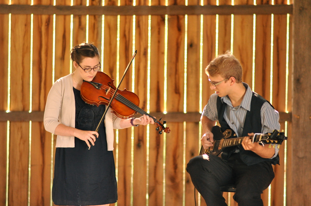 Two of their dearest friends shared their incredible musical talents before and during the ceremony.