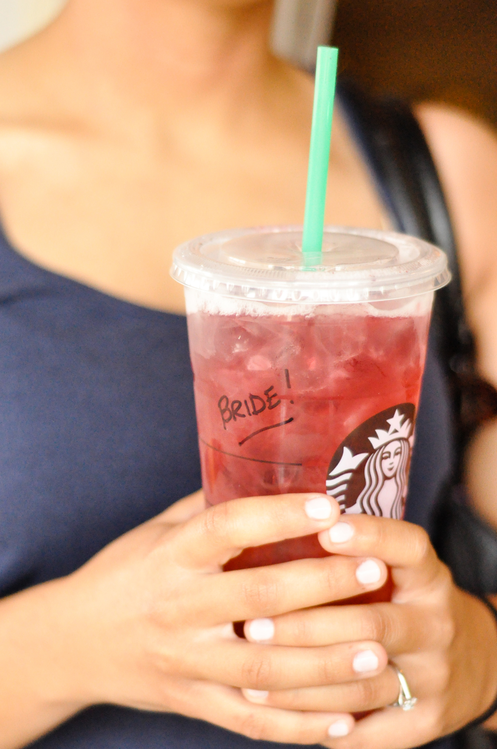 No bride should ever turn down free Starbucks on her big day.